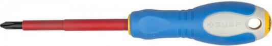 Купить Отвертка ЗУБР 25262-2-100 ПРОФИ ЭЛЕКТРИК Cr-V, высоковольтная до ~1000В, PH №2, 100 мм, Зубр