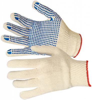 Перчатки NEWTON per4-10 х/б 10/5 белые с ПВХ точка комплект 10 штук перчатки newton per 2 10 3 3 х ниточные с пвх точка