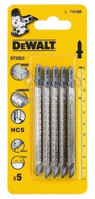 Пилки для лобзика DeWALT DT2053-QZ по дереву HCS T 101 BR, 5шт.