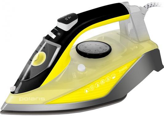 Утюг Polaris PIR 2460АK 2400Вт жёлтый серый чёрный утюг philips gc2998 80 чёрный 2400вт