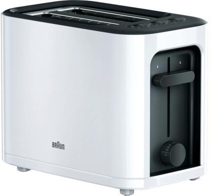 Тостер Braun HT3000 1000Вт белый/черный тостер braun ht450bk