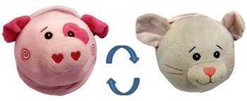 Мягкая игрушка ИГРАЕМ ВМЕСТЕ Вывернушка Свинка - Мышка 16см в пак. в кор.24шт мягкая игрушка играем вместе вывернушка щенок свинка 16см в пак в кор 24шт