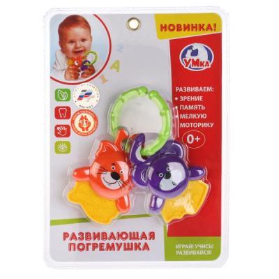 Купить Погремушка УМКА Мышонок и Львенок B803574-R1, разноцветный, унисекс, Погремушки и прорезыватели