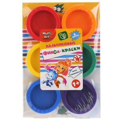 Пальчиковые краски Multi Art Фиксики 6 цветов CM2752-FIX