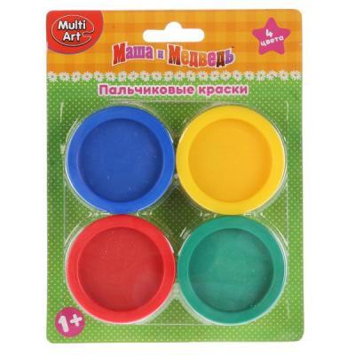 Купить Пальчиковые краски Multi Art Маша и Медведь 4 цвета CM2684-MM, MultiArt, Прочие краски