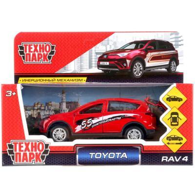 Инерционная машинка Технопарк TOYOTA RAV4 СПОРТ красный RAV4-S инерционная машинка s s toys грузовая 1828 57b