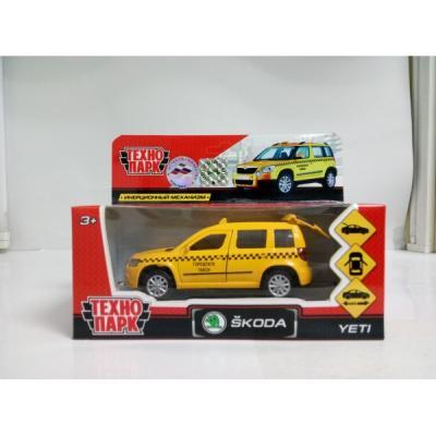 Инерционная машинка Технопарк SKODA YETI ТАКСИ желтый YETI-T инерционная машинка технопарк skoda rapid такси желтый