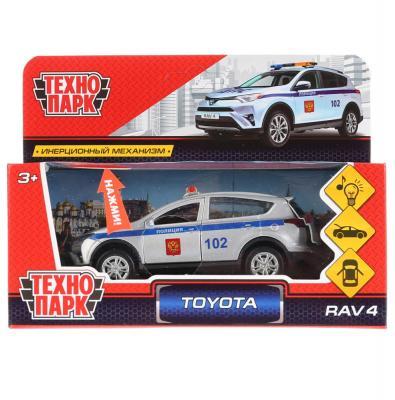 цена на Автомобиль Технопарк TOYOTA RAV4 ПОЛИЦИЯ белый 12 см RAV4-P-SL