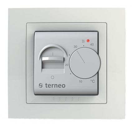 Терморегулятор TERNEO mex  для теплого пола. 3 000 ВА. 16 А. 10-40 °С.
