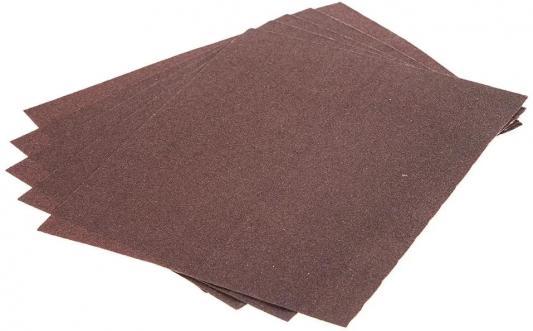 Листы шлифовальные Hammer Flex 241-001 230x280мм, P 80 (5шт), бумажная основа цена