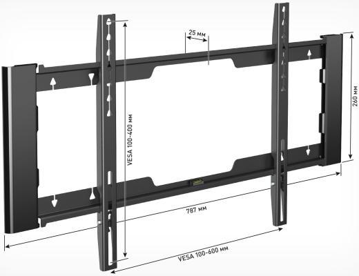 HOLDER LCD-F6910-B черный кронштейн
