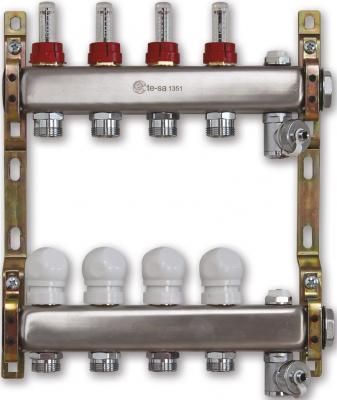 220ATT2-06-03D Te-Sa Коллектор в сборе 1 3 выхода под евроконус с расходомерами