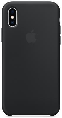 Накладка Apple Silicone Case для iPhone XS чёрный MRW72ZM/A цена и фото