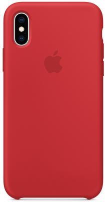 Накладка Apple Silicone Case для iPhone XS красный MRWC2ZM/A цена и фото