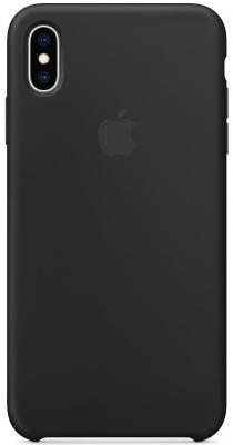 Накладка Apple Silicone Case для iPhone XS Max чёрный MRWE2ZM/A цена и фото