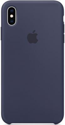Накладка Apple Silicone Case для iPhone XS Max темно-синий MRWG2ZM/A цена и фото