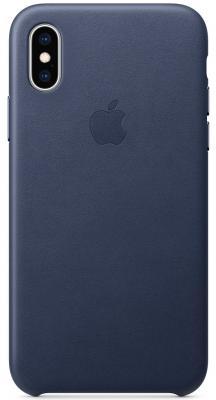 Накладка Apple Leather Case для iPhone XS темно-синий MRWN2ZM/A накладка apple leather case для iphone xs золотисто коричневый mrwp2zm a