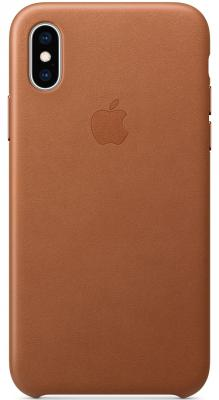 Накладка Apple Leather Case для iPhone XS золотисто-коричневый MRWP2ZM/A клип кейс apple leather для apple iphone xs золотисто коричневый