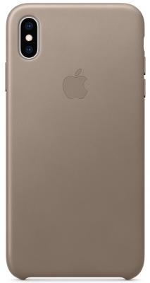 iPhone XS Max Leather Case - Taupe сумка shopper xs baroque taupe