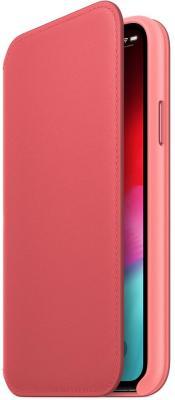 Фото - Чехол-книжка Apple Leather Folio для iPhone XS розовый MRX12ZM/A чехол книжка apple leather folio для iphone x лесная ягода