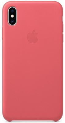 iPhone XS Max Leather Case - Peony Pink protective flip open pu leather pc case w stand hand strap for ipad air deep pink