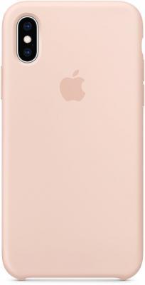Накладка Apple Silicone Case для iPhone XS розовый песок MTF82ZM/A цена и фото