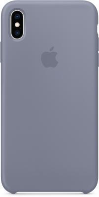 Накладка Apple Silicone Case - Lavender Gray для iPhone XS Max серый MTFH2ZM/A цена и фото