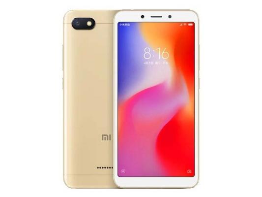 Смартфон Xiaomi Redmi 6A 16 Гб золотистый смартфон xiaomi redmi 6 32 гб золотистый redmi6gld32gb