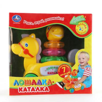 Каталка Умка КАТАЛКА-ЛОШАДКА желтый от 6 месяцев пластик B876678-R каталка качалка r toys лошадка трансформер пластик от 8 месяцев белый 5570 ор146