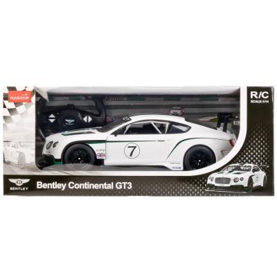 Автомобиль RASTAR BENTLEY CONTINENTAL GT3 1:14 белый от 3 лет пластик, металл 70600-RASTAR автомобиль balbi автомобиль черный от 5 лет пластик металл rcs 2401 a