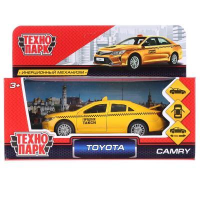 Купить ТМ Технопарк. Машина металл TOYOTA CAMRY ТАКСИ, длина 12 см, откр дв, багаж, инерц. в кор.2*36шт, ТЕХНОПАРК, желтый, Детские модели машинок