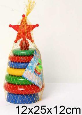 Купить ПИРАМИДКА ЗВЕЗДА в кор.10шт, Пластмасса-Детство (СВСД), пластик, Пирамидки для малышей