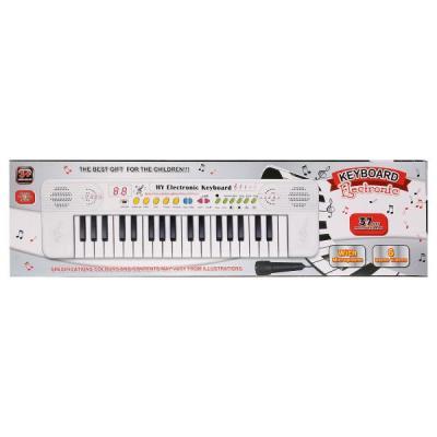 Купить Электроорган на бат., с микрофоном, 37 клавиш BX-1607В в кор. в кор.2*36шт, Shantou, Детские музыкальные инструменты