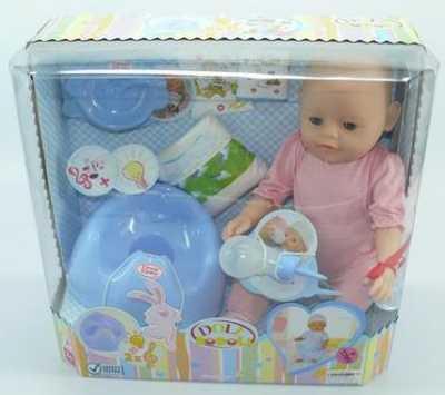 Пупс Shantou ПУПС 43 см пьющая писающая B1052217 кукла shantou gepai my baby 30 см со звуком пьющая писающая