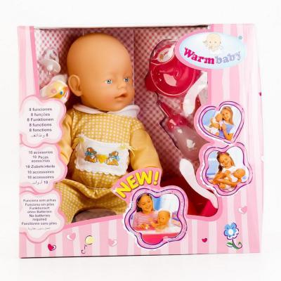 Пупс Shantou ПУПС 8003-2-3-6-8 43 см писающая пьющая B1571806 кукла shantou gepai my baby 30 см со звуком пьющая писающая