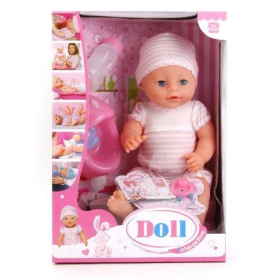 Пупс Shantou ПУПС 43 см писающая пьющая кукла shantou gepai my baby 30 см со звуком пьющая писающая