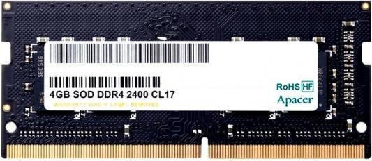 Оперативная память для ноутбука 4Gb (1x4Gb) PC4-19200 2400MHz DDR4 SO-DIMM CL17 Apacer ES.04G2T.KFH