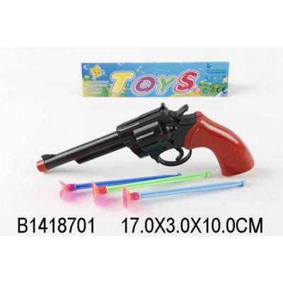 Пистолет Играем вместе ПИСТОЛЕТ С ПРИСОСКАМИ черный коричневый B1418701 хлопушка пистолет