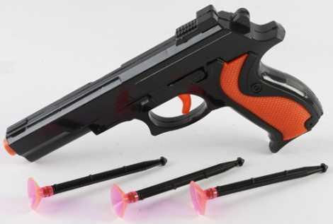 Пистолет Shantou Gepai ПИСТОЛЕТ С ПРИСОСКАМИ коричневый черный B1512203 хлопушка пистолет