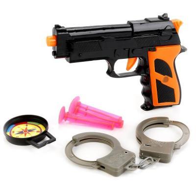 НАБОР ПОЛИЦИЯ (ПИСТОЛЕТ С ПРИСОСКАМИ + НАРУЧНИКИ) В ПАК. (РУСС. УП.) 24*3*13СМ в кор.2*144шт набор полиция пистолет с присосками наручники в пак 24 3 12 5см в кор 2 180шт