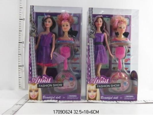Купить Игровой набор Shantou Кукла + манекен для создание прически 29 см, пластмасса, текстиль, Классические куклы и пупсы