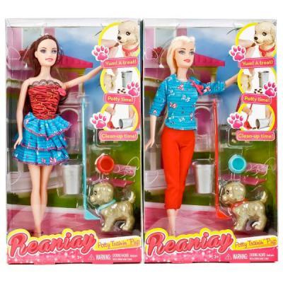 Купить Игровой набор Shantou Кукла с собачкой 29 см, пластмасса, текстиль, Классические куклы и пупсы