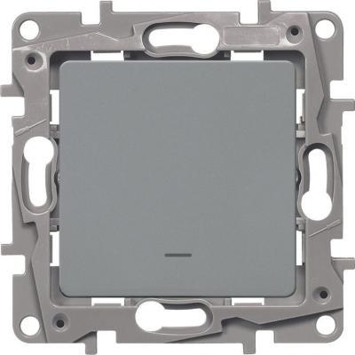 Legrand 672403 Выключатель одноклавишный с подсветкой/индикацией - автоматические клеммы - Etika - 10 AX - 250 В~ - алюминий выключатель одноклавишный legrand tcl k5
