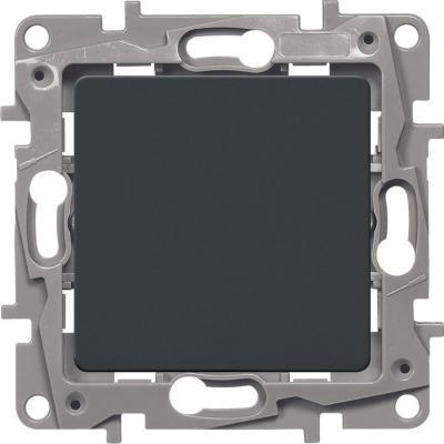 Legrand 672601 Выключатель одноклавишный - автоматические клеммы - Etika - 10 AX - 250 В~ - антрацит цена в Москве и Питере