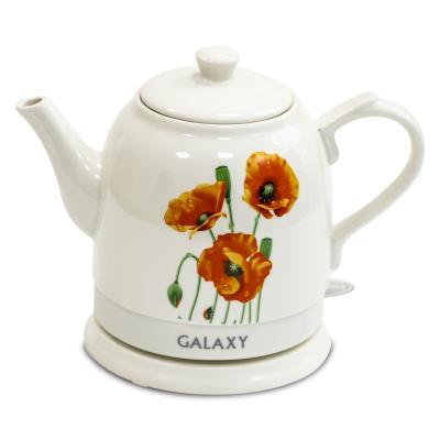 Чайник электрический GALAXY GL0506 1400 Вт белый 1.4 л керамика чайник электрический galaxy 1 7 л 2200w с подсветкой