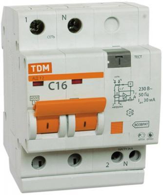 Автомат ТДМ SQ0204-0003 10А 30мА блок tdm sq1813 0003