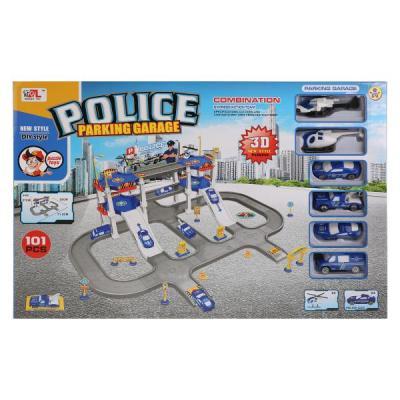 Купить Парковка полиция с машинками и акесс. P668-26 в кор. в кор.2*9шт, Shantou, Гаражи, парковки, треки