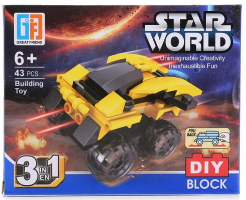 Конструктор Shantou Звездный корабль 43 элемента В ассортименте конструктор shantou космический корабль 102 элемента