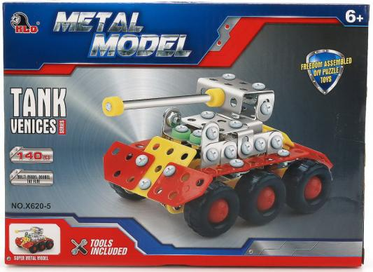 Металлический конструктор Shantou B1644104 140 элементов конструктор металлический грузовик и трактор 345 элементов