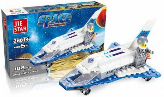 Конструктор Shantou Космический корабль 102 элемента город игр конструктор космический корабль будущего